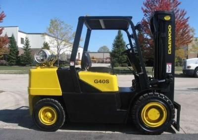 15,000lbs Semi-Pneumatic LP Forklift